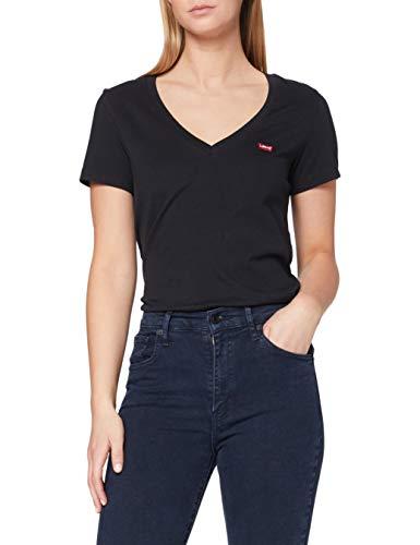 Levi's Damen Perfect Vneck T-Shirt, Black (Caviar 0003), Small