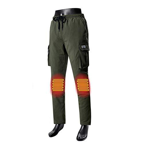 HWZZ Herren-Sporthose mit zwei Heizzonen, Stromversorgung über USB-Batterie, geeignet für Skifahren und Abenteuer, Bronze, XXXL