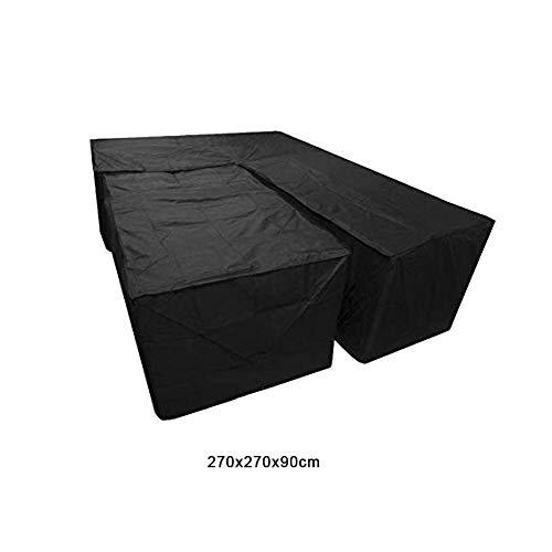 2 Stück/Set L-Form Möbelabdeckung und Rechteckige Abdeckung, Hochleistungs Wasserdicht Winddicht Staubdicht Patio Eckmöbel Sofa Rattanbezug für Außenterrassentisch und Stühle