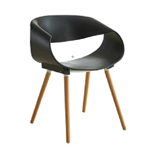 Chaise en Plastique Chaise de Salon créative Chaise de Design Chaise en Bois Massif Chaise de café Chaise (Color : E, Taille : 75.5cm)