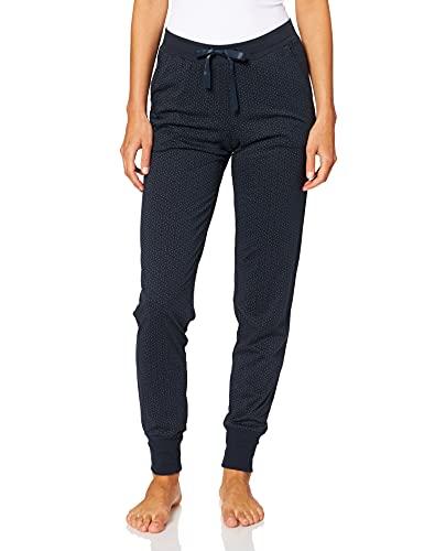 Schiesser Damen Mix & Relax Jerseyhose Lang Pyjamaunterteil Schlafanzughose, Blau (Nachtblau 804), 46