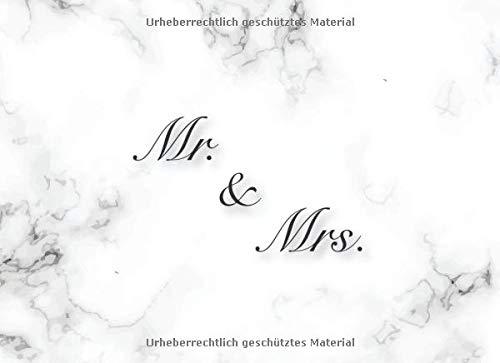 Mr. & Mrs.: Elegantes Marmor Hochzeits Gästebuch für unsere Hochzeit mit Fragen und...