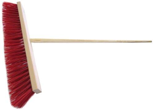 Straßenbesen 60 cm inkl. Holz-Besenstiel 140 cm Elaston rot für groben Schmutz/rauhe Böden Kehrbesen - 2