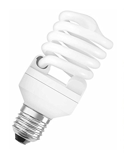 Osram - Bombilla bajo consumo mini espiral, 23W=107 E27, luz cálida