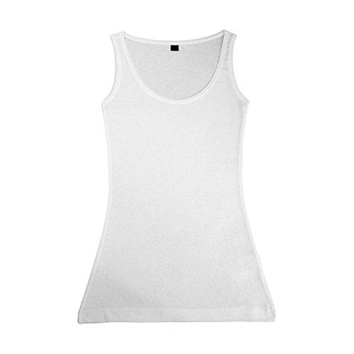 Nakedshirt Camiseta de Tirantes Modelo MIA para Mujer (Pequeña (S)) (Blanco)