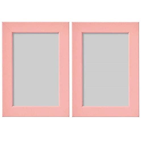 Digital Shoppy IKEA FISKBO Frame, Light Pink, 10x15 cm (4x6) - Pack of 2