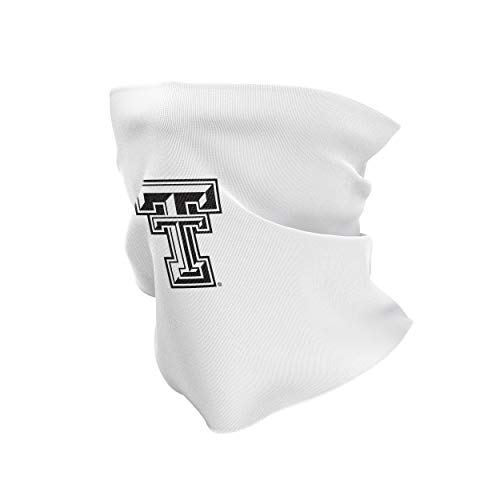 NCAA Texas Tech Red Raiders Unisex Stretchy Cotton Poly Blend Multipurpose Gaiter Scarf White, Texas Tech Red Raiders White, One Fit