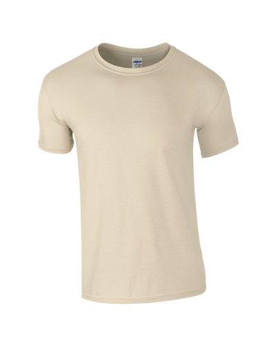 GILDAN - T-shirt - Homme - Ecru - Sable - Medium