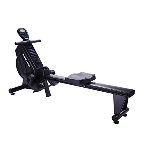 Stamina DT 397 Rowing Machine Rower, Dual Technology Combines Magnetic & Air Resistance, Includes Two Expert-Guided Online Workouts, Stream from Any Device
