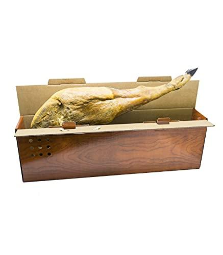 Cajeando | Pack de 2 Cajas de Cartón Jamoneras | Tamaño 86 x 14,5 x 27 cm | Para Guardar Jamones o...