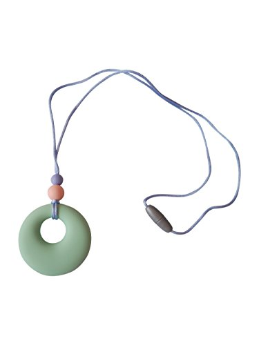 Silicone Teething Necklace Pendant Breastfeeding Baby Nursing Beads BPA Free, Hand-Made by MilkMama, 5 Colours (Mint)