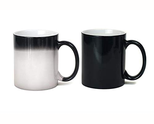 PERSONALISED BLACK HEAT CHANGING MUG- ADD YOUR OWN IMAGE AND TEXT by Rollmark