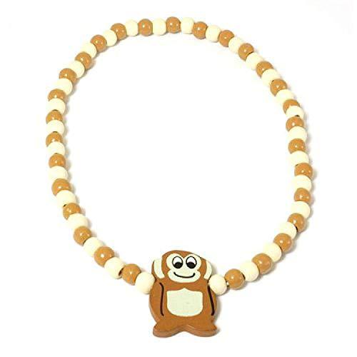 The Olivia Collection perline elasticizzato scimmia collana in legno per bambini