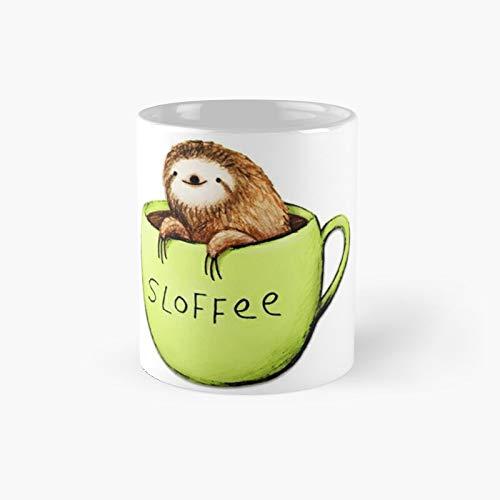 Funny Sloths Sloffee - Taza clásica con el mejor regalo para tazas de café de 11 onzas