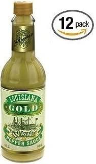 Louisiana Gold Wasabi Pepper Sauce - (12 Pack of 5 Oz. Bottles)