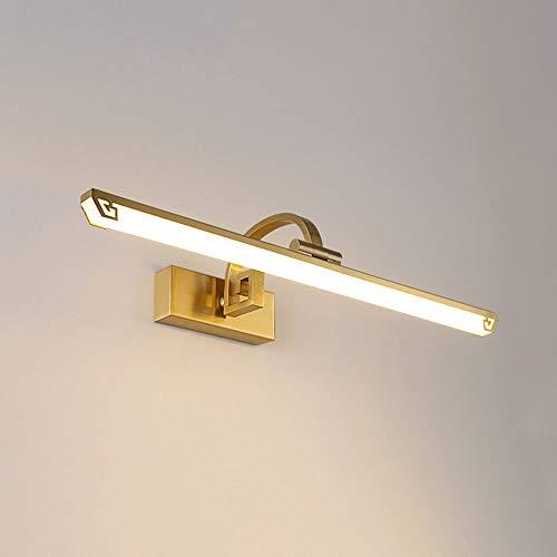 Lámparas modernas de baño de cobre Luz de la pared de la mesa de la sombra acrílica, lámparas de pared de tocador de espejo de lujo para la sala de estar del corredor del dormitorio, luces de lavado d