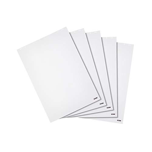 Amazon Basics - Bloc de papel para rotafolio, 20 hojas cuadriculadas, 68 x 98 cm, 5 unidades