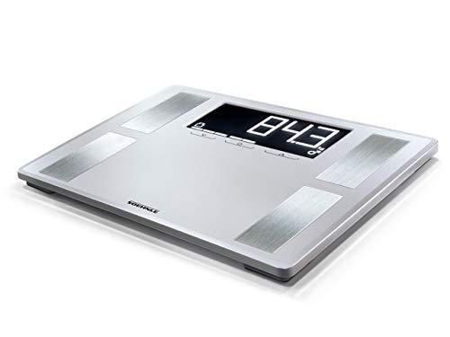 Soehnle Shape Sense Profi 200 Körperfettwaage mit Premium-Körperanalyse, Personenwaage mit Athletenmodus, Waage für exakte Messung und BMI-Berechnung