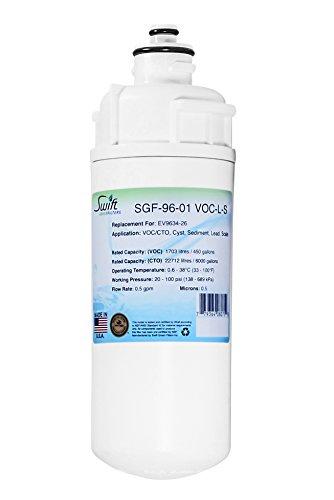 Swift Green Filters SGF-96-01 VOC-L-S Swift Filtro verde de repuesto para Everpure Ev9634-26, 1 paquete