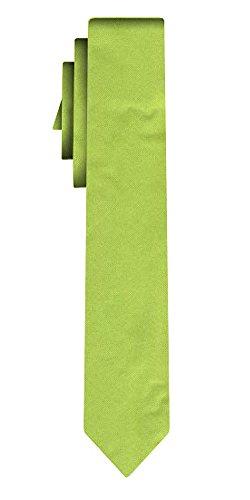 Cravate soie unie étroite solid apple green /6cm