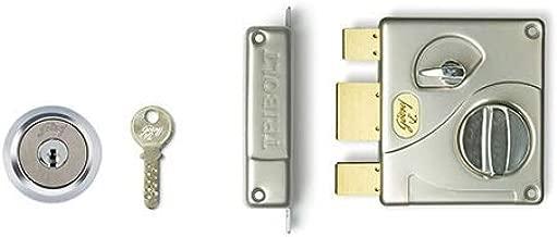 Godrej Locks 18/8 Steel 1 CK Ultra Tribolt Deadbolt,Standard Size,(8128, Satin Nickel)