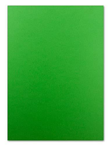 50 Blatt Tonkarton DIN A4 - Grün - 240 g/m² dicker Bastelkarton - 21,0 x 29,7 cm Pappe zum basteln für Fotoalbum Menükarte Bedruckbar DIY kreativ sein