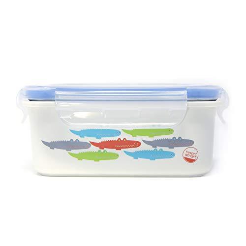 innobaby Keepin' Smart Dubbel Geïsoleerde RVS Bento Lunchbox (Blauw, Alligator)