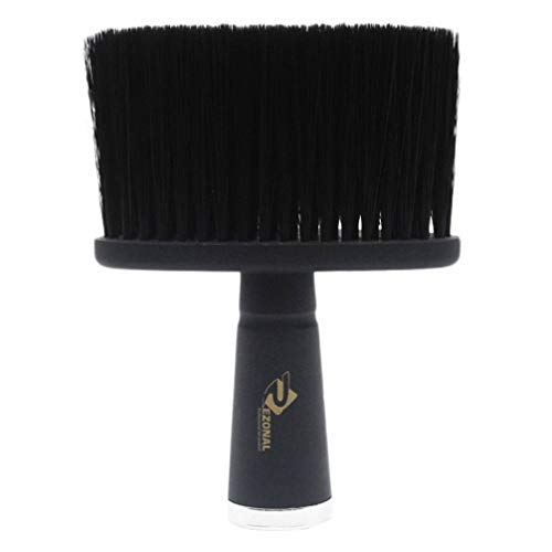 FRCOLOR Coiffeur Cou Brosse Fibre Doux Visage Plumeau Brosse de Nettoyage Coiffeurs Coupe Cheveux Brosse de Rasage pour Salon de Coiffure Maison (13. 2X9. 5X2 Cm Noir)