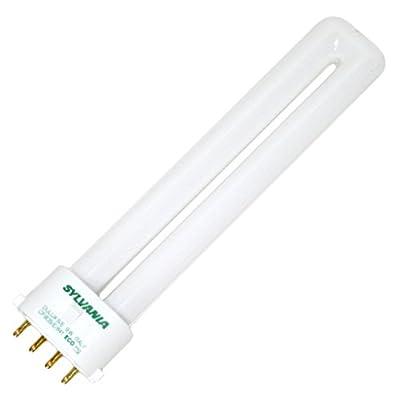 Sylvania 20137 CF9DS/E/841 9-Watt Single Tube Compact Fluorescent Light Bulb, 4100K, 580 Lumens, 82 CRI, T4 Shape, 4-Pin 2G7 Base