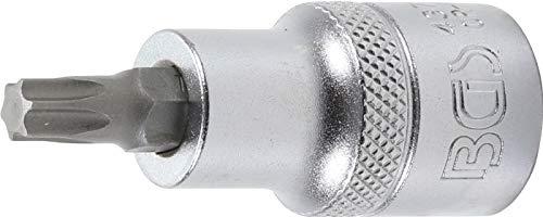 """BGS 4372   Bit-Einsatz   Länge 53 mm   12,5 mm (1/2\"""")   T-Profil (für Torx) T40   CV-Stahl"""