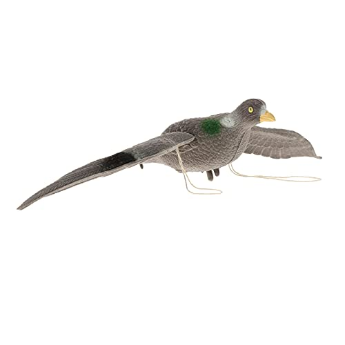 FLAMEER Alas móviles para espantar aves, señuelo de búho espantapájaros estatua realista terrorífica paloma falsa al aire libre Control de Plagas aves para