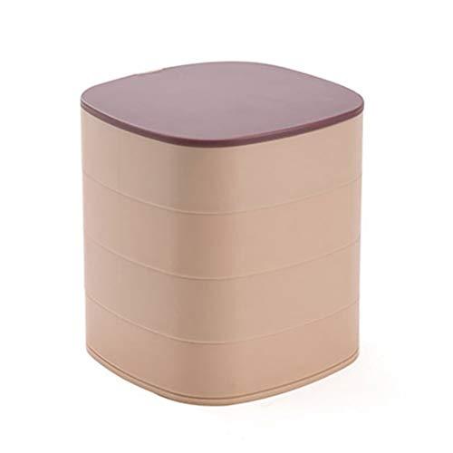 YLSZZTT Caja De Almacenamiento De Joyería Giratoria Multifuncional, Caja De Almacenamiento De Joyería De Escritorio, Accesorios, Estante De Joyería Portátil De Múltiples Capas (Color : Pink)