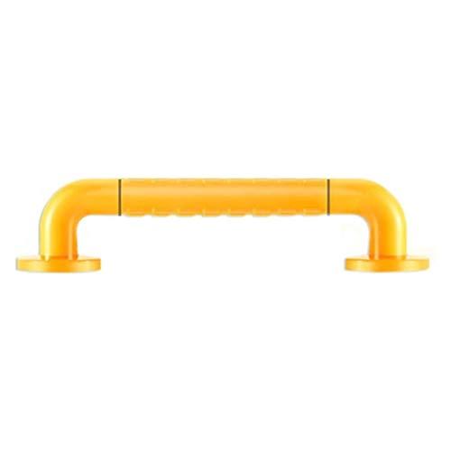 LJMG Grab Bars Elderly Disabled Handrail Non-Slip Stainless Steel Railing for Toilet Standing Handrail for Toilet Can Bearing 300kg (Color : Yellow, Size : 50cm)