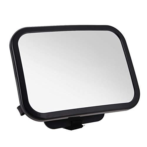 espejo retrovisor interior Espejo de la vista del asiento trasero del coche ancho ajustable, espejo de la vista del bebé orientado hacia la parte trasera para el asiento del automóvil de seguridad par