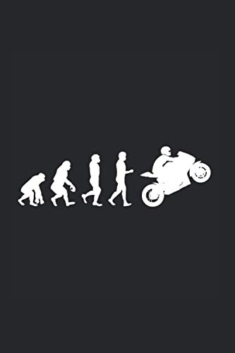 Motorradfahrer Biker Rennfahrer Motorrad Evolution: 6x9 Notizbuch