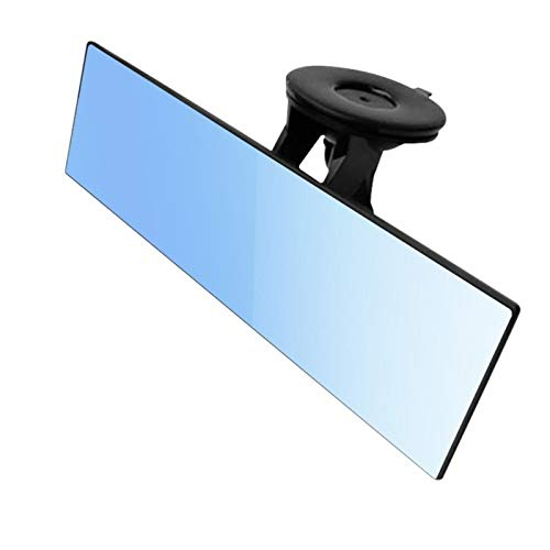 Espejo Retrovisor Interior Coche vista trasera espejo antirreflejo 360 grados ajustable camión de coche succión interior ventosa azul espejo accesorios de coche interior Espejo Retrovisor Coche