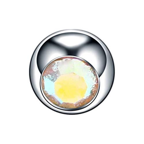 LCHB 10pcs Titanio Cristal reemplazo Bola 16G 14G de la Nariz del Labio Pendientes del pezón de la ceja del Vientre Anillos de la Lengua Piercings Accesorios Bola Pendientes for Las Mujeres