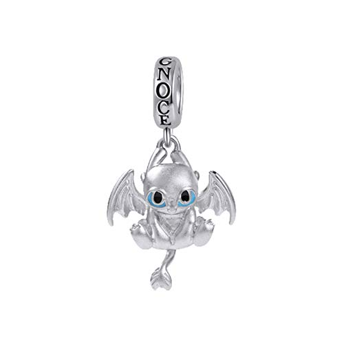 GNOCE Little Dragon Charm Pendant Sterling Silver Fight for Homeland Charm Bead Fit Bracelet/Necklace Jewelry Gift for Women Girls