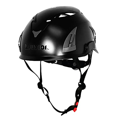 Fusion Climb Meka Climbing Bungee Zipline Mountain Construction Safety Protection Helmet Black