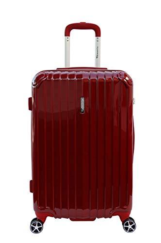 Tamaris Fun Hartschalen Koffer, 4 Rollen Reisekoffer für Damen/Herren mit TSA Schloss, 67,5x44,5x26 – 60L, Rot
