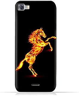 Infinix Zero 3 X552 TPU Silicone Protective Case with Horse On Flame Design