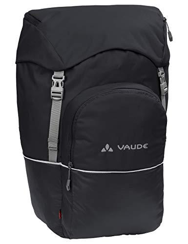 VAUDE Hinterradtaschen Road Master Back, Hinterradtasche zum Radfahren, umfangreiche Ausstattung, black uni, one Size, 124070510