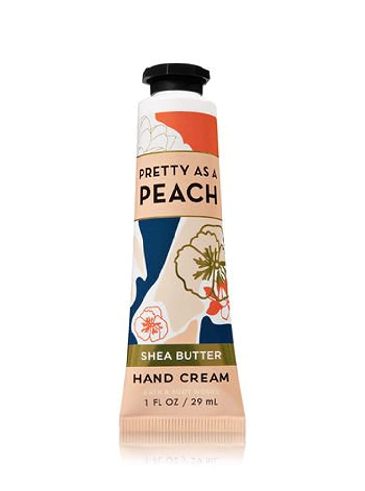 論争的まっすぐにする哲学的【Bath&Body Works/バス&ボディワークス】 シアバター ハンドクリーム プリティーアズアピーチ Shea Butter Hand Cream Pretty As A Peach 1 fl oz / 29 mL [並行輸入品]