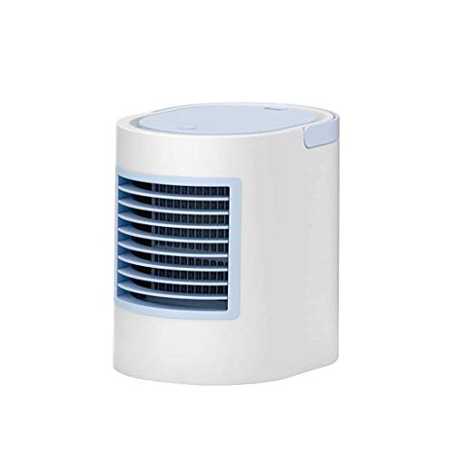 XPfj Evaporative Coolers Portable Air Cooler Fan 3 in 1 USB Mini Air Conditioner, Humidifier, with Night Light, Desktop Cooling Fan for Office Home Outdoor Travel (color : Gray) (Color : Blue)