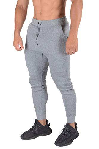 YoungLA Mens Slim Fit Joggers Sweatpants Gym Fitness Training 207 Grphhet S