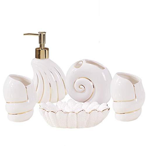 FABAX duurzame badkamerset moderne creatieve keramische badkamer accessoires set badkamer accessoires tandenborstel cup wastafel klein pak badkameraccessoires