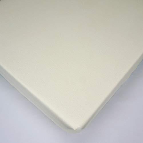 Jersey Crudo Sábana bajera 100% algodón para colchón de cuna de bebé de 90 x 40 cm