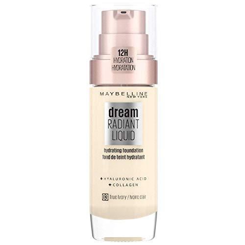 Maybelline Dream Satin Foundation Maquillaje Fluido 3 True Ivory