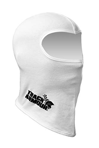 TRACK ARMOUR Racing Head Sock Balaclava for Auto and Motorcycle Racing WHITE COLOR TAHS-WT