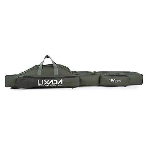 Lixada 150cm Portable Folding Fishing Rod Reel Bag Case Storage Bag Organizer
